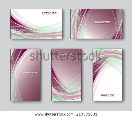 Business Cards or Gift Cards. Vector Collection.