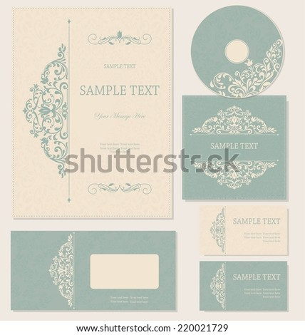 business cards or invitations with abstract background for any occasion