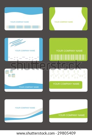 business cards ( set 1) - stock vector