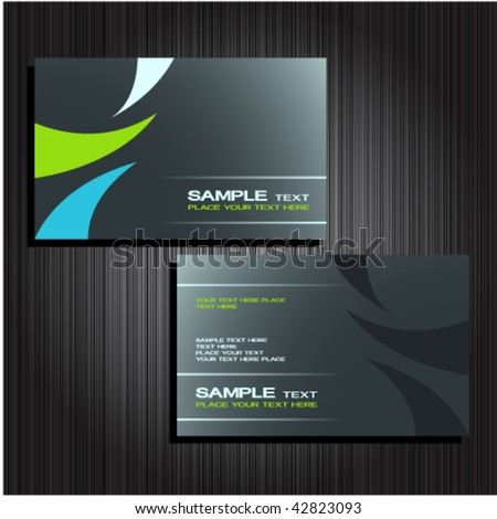 business cards set 25 - stock vector