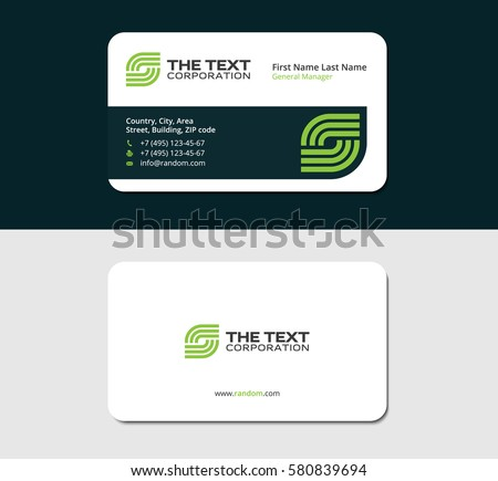 Business cards smart green color two stock vector royalty free business cards smart green color two sided cards white background reheart Gallery