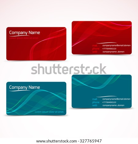 Business cards template visiting card set stock photo photo vector business cards template or visiting card set vector illustration reheart Gallery