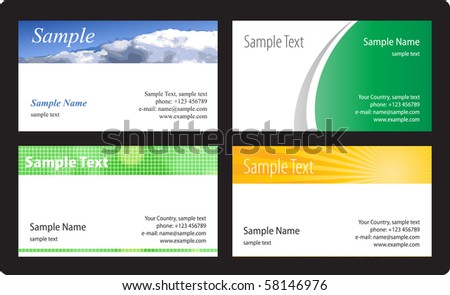 Business cards template. Vector illustration. - stock vector