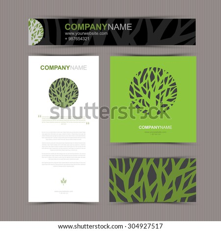 Business cards template stylized tree beautiful stock vector 2018 business cards template with stylized tree beautiful tree logo vector illustration card colourmoves
