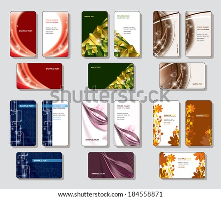 Business Cards. Vector Designs. - stock vector