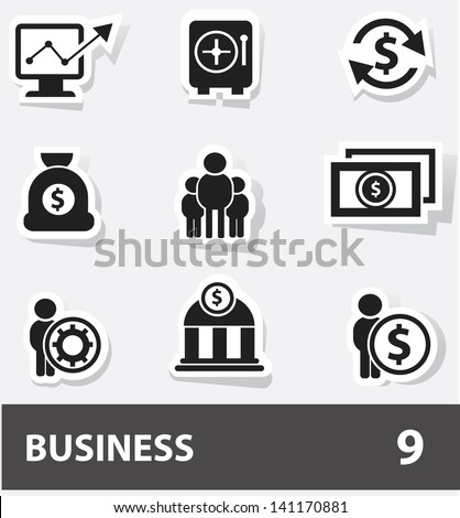 Business cartoon icons,vector - stock vector
