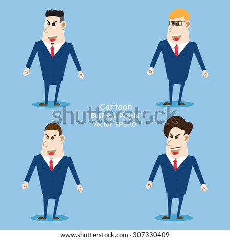 Business cartoon people, Vector Illustration EPS 10. - stock vector