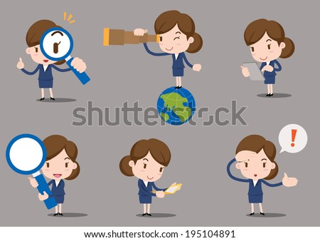 business character - find - stock vector