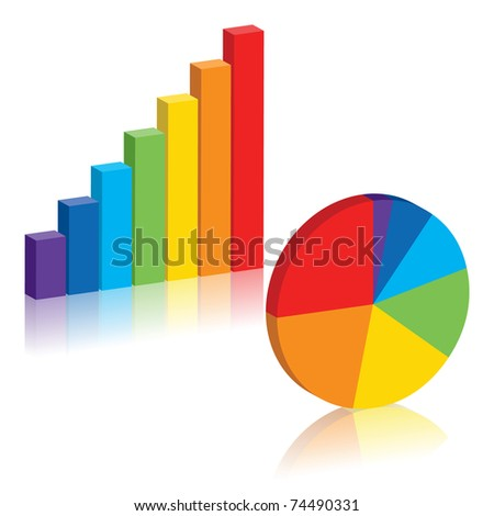 Business charts, vector EPS 8 - stock vector
