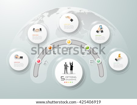 Business circle infographic, Infographic template, business timeline infographic, vector infographic. Infographics stock can be used for workflow layout, diagram, number option. - stock vector
