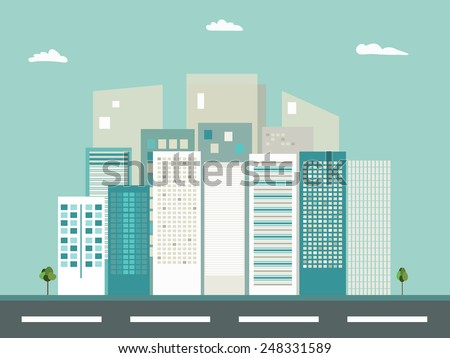 Business City Concept - stock vector