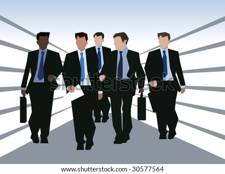 business colleagues businesspeople - stock vector