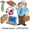 Business collection on white background - vector illustration. - stock vector