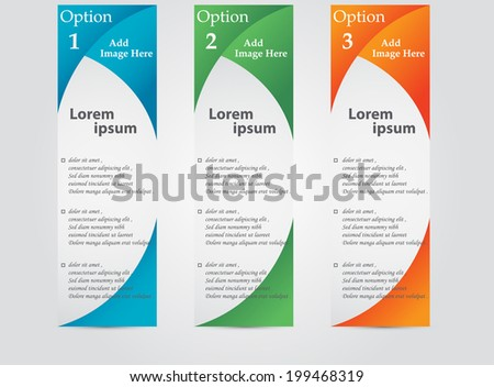 Business Colour Flyers - stock vector