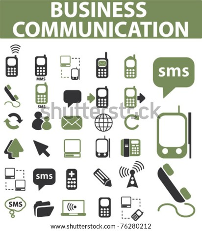 business communication signs, icons, vector illustration