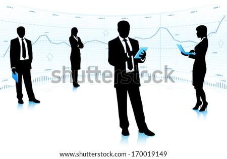 Business community. - stock vector