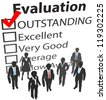 Business company people outstanding human resources evaluation - stock vector
