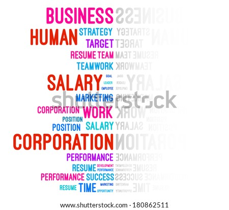 Business Company Word Cloud Vector - stock vector