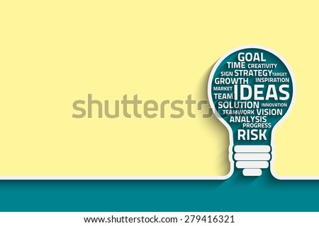 Business concept bulb made with words. Vector Eps10 for your design - stock vector