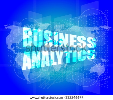 business concept, business analytics digital touch screen interface vector illustration - stock vector