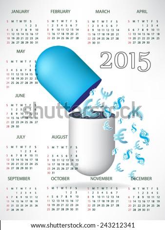 Business concept, calendar for 2015 - stock vector
