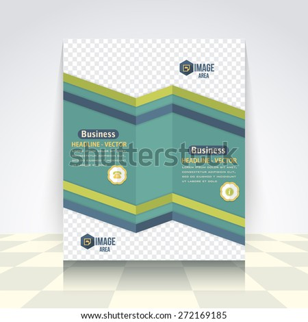 Business Concept Clean Style Flyer, Brochure Design. Corporate Leaflet, Cover Template - stock vector
