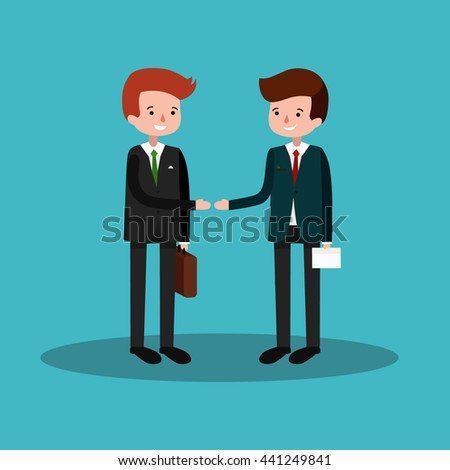 Business concept flat  set of meeting partnership.Business deal. Business people shaking hands