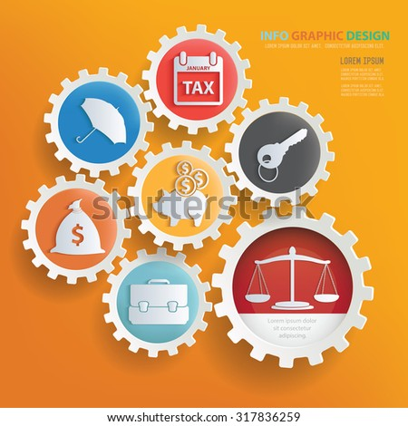 Business concept infographic design,clean vector - stock vector