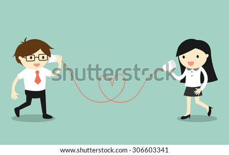 Business Concept Love Office Businessman Business Stock Vector