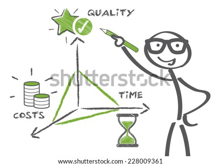 business concept magic triangle - stock vector