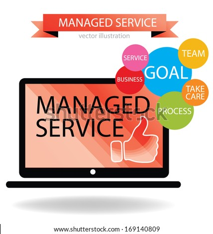 Business concept. Managed service. vector illustration. - stock vector