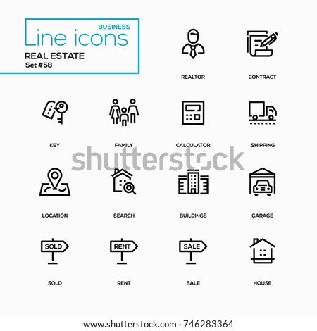 Business Concept Real Estate Line Design Stock Vector Hd Royalty