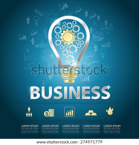 Business Concept Success Lamp Vector - stock vector