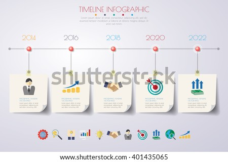 business concept timeline. Infograph template, business paper 5 steps infographic, vector infographics can be used for workflow layout, diagram, number option. infographic illustration.infographic - stock vector
