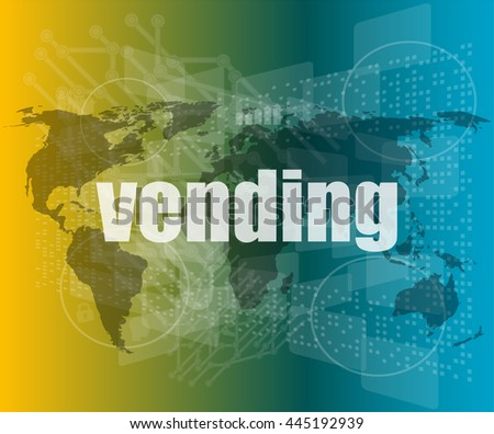 business concept: vending words on digital screen, 3d vector quotation marks with thin line speech bubble. concept of citation, info, testimonials, notice, textbox. flat style - stock vector