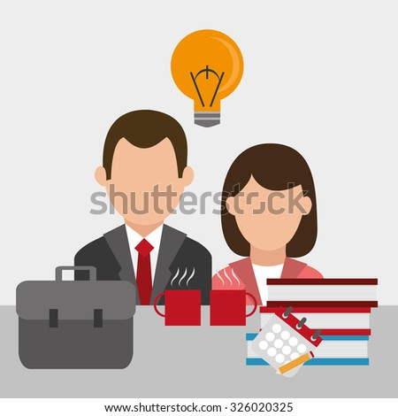 Business concept with  decoration icons design, vector illustration 10 eps graphic.
