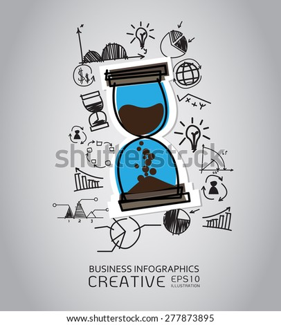 Business concept with icons background. infographic - stock vector