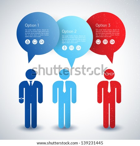 Business concept with text fields. Vector Illustration, eps10, contains transparencies. - stock vector