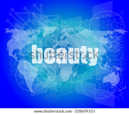 business concept: word innovation on digital touch screen vector illustration - stock vector