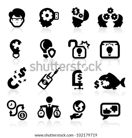 Business concepts icons set - stock vector