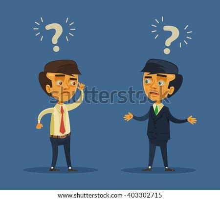 Business conflict. Vector flat cartoon illustration - stock vector