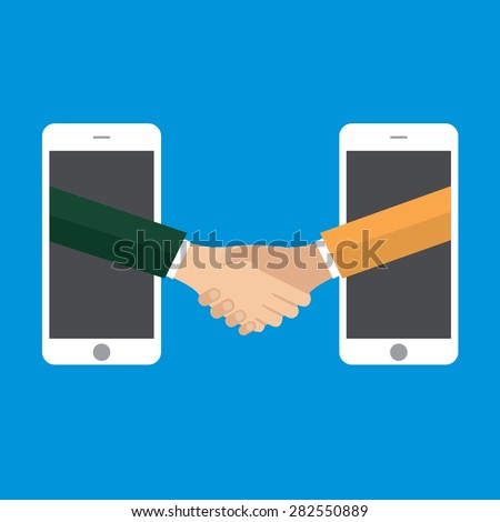 business connection and relations. Handshake, vector - stock vector