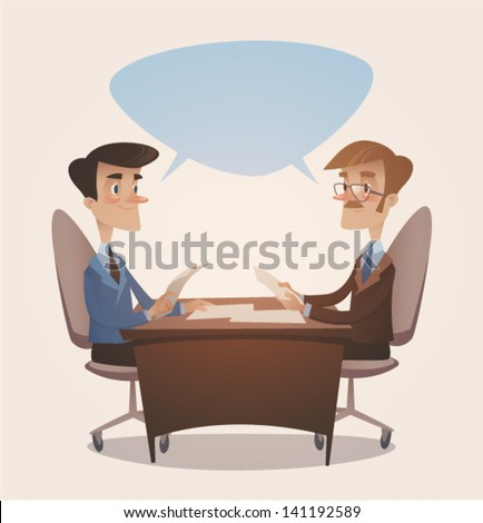 Business consulting. Retro style vector illustration - stock vector