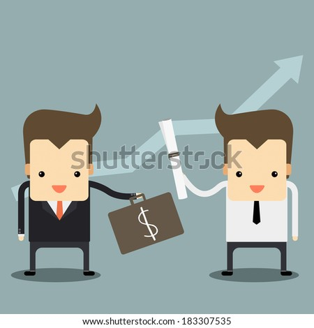 business contract vector