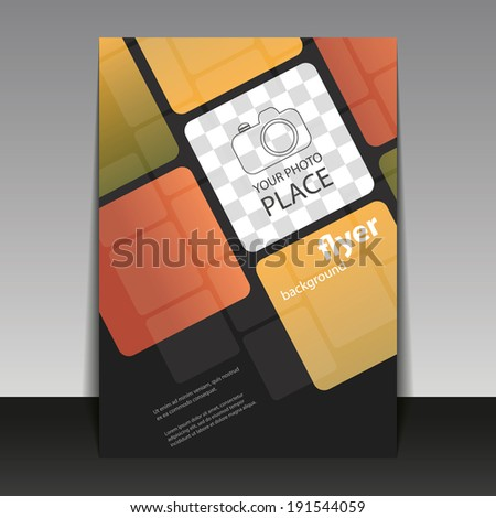 Business Corporate Flyer Template with Squares Pattern - stock vector