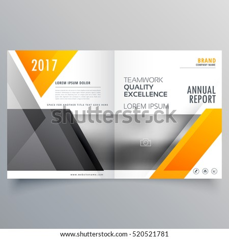 business cover page template layout brochure design with abstract shapes