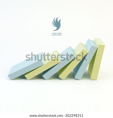 Business 3D concept illustration. Leadership vector illustration. - stock vector