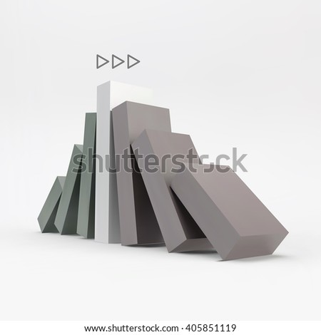 Business 3D Concept Illustration. Leadership Vector Illustration. - stock vector