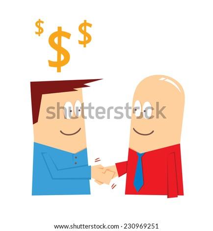 business deal - stock vector