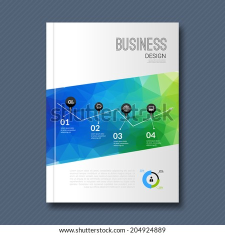 Business design background. Cover Magazine geometric shapes info-graphic, vector illustration - stock vector
